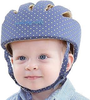 IULONEE bébé casque de protection pour enfant Chapeau infantile Tête de protection Chapeau de coton pour enfant réglable c...
