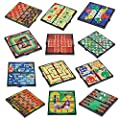 "Gamie Magnetic Board Game Set Includes 12 Retro Fun Games - 5"" Compact Design - Individually Boxed - Teaches Strategy & Focus - Great for Road Trip/ Travel/ Camping - Best Gift for Kids Ages 6+"