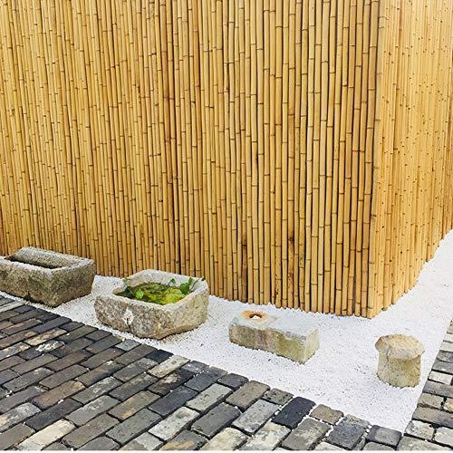 Pare-Vue pour Balcon Clôture en Bambou Écran Privé Matériaux 100% Naturels Patio, Clôture De Jardin 2,4 Cm De Diamètre comme Séparateur De Pièce Ou Panneau Décoratif