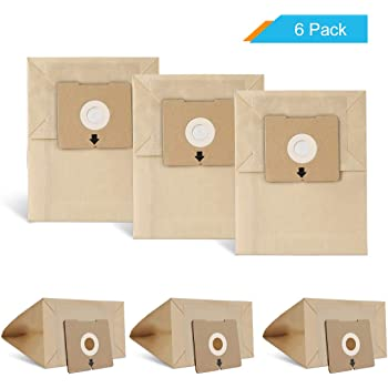 LANMU Dust Bags for Bissell Zing 4122 Canister Vacuum, Replacement Bags Compatible with Models 4122D,1668,1668C,1668W, 2154A, 2154C, 2154W, 1608, Compare to Part Number 213-8425 (6 Pack)