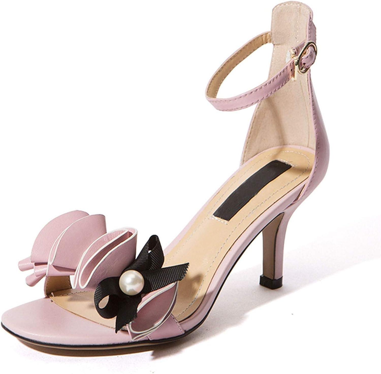 GO-SAMSARA heels Genuine Leather Casual Buckle Sandals Block Heel shoes shoes Women Tacos ZYL2664