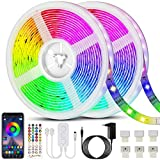 Bonve Pet 20M Tiras LED RGB 5050, Bluetooth Musical Tiras LE