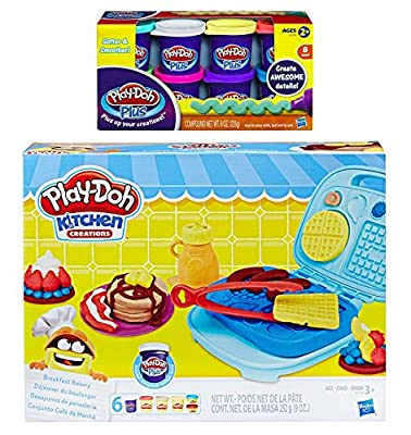 Play Doh Kitchen Creation Breakfast Bakery + Play-Doh Plus Compound Bundle by Play Doh