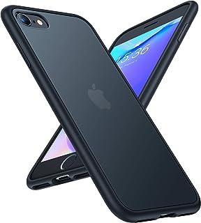 TORRAS iPhone SE用 7用 8 用ケース 半透明 耐衝撃 米軍MIL規格 マット感 SGS認証 黄ばみなし レンズ保護 ストラップホール付き 4.7インチ アイフォン SE 7 8用カバー(ブラック)