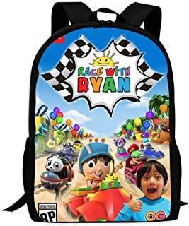 Ryan Toy Reviews School Backpacks 3D Printed Bookbags Daypack Shoulder Lightweight Bag Laptop, Fashion Large Capacity Casual Travel Bag For Kids/Students/Children