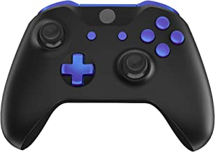 eXtremeRate LB RB LT RT Bumpers Triggers D-Pad ABXY Start Back Sync Buttons, Chameleon Purple Blue Full Set Buttons Repair Kits with Tools for Xbox One S & Xbox One X Controller (Model 1708)