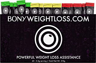 Bony Weightloss: Mixed Flavor 60 Count Sticks with Garcinia Cambogia, Green Coffee Bean, Noni and Yacon - Diet Drink for Men and Women - Carb Blocker and Appetite Suppressant For Natural Weight Loss