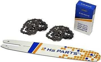 HS PARTS Espada 35 cm + 2 x Cadena 50 eslabones 3/8 Paso 1,3 mm para motosierra Stihl