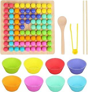 Träpärlor spett, ZoneYan träpärlor spel, klipppärlor spel, träklipp pärlor spel, regnbågspärlor leksaker, träklipp-pärlor,...
