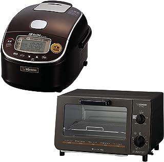 【中身の見える福袋】象印 炊飯器 3合 圧力IH式 1~3人向け + オーブントースター 火力5段切り替え セット