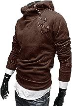Seal Men's Fashion Oblique Zipper Hoodie Casual Top Coat AI-007