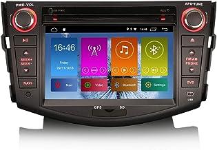 ERISIN 7 Pulgadas Android 10.0 Autoradio para Toyota RAV4 GPS Sat Nav Reproductor de DVD Radio Soporte Bluetooth WiFi 4G Dab + RDS Enlace Espejo TPMS CarPlay Incorporado Amplificador DSP