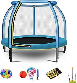 """48""""bärbar och hopfällbar studsmatta för barn, mini studsande säng med skyddsnät och leksaksuppsättning, rebounder studsmat..."""