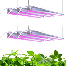Barrina LED Grow Light, 252W(6 x 42W, 1400W Equivalent) 4ft T8, Full Spectrum, V-Shape with Reflector Combo, Linkable Design, Plant Lights for Indoor Plants, 6-Pack