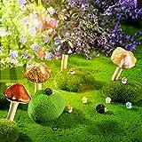 Set de 4 Piezas Setas de Cerámica 6 Piezas Mini Setas de Resina 2 Piezas Mini Figura de Erizo Ornamento Micro Paisaje para Decoración de Hada Mini Jardín Maceta Interior al Aire Libre