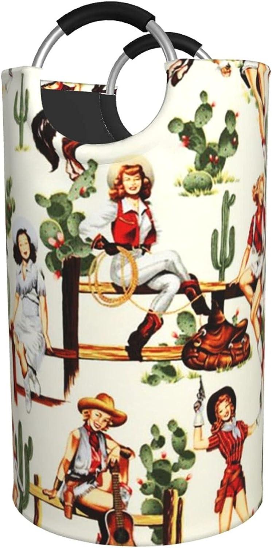 American Southwestern Cowgirl Cactus Laundry Mesa Mall Seasonal Wrap Introduction Horse Large Baskets