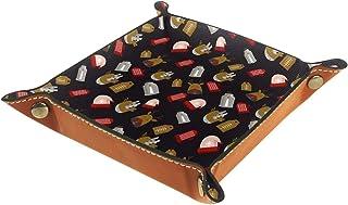 ATOMO Plateau de rangement en cuir Raindeer Chapeau de Noël - 01 clés, bijoux, pièces de monnaie, articles divers, table d...