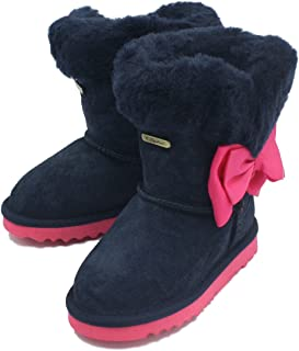 K.Signature Toddler(9 months-4years) Mary Sheepskin Winter Bow Boots