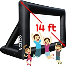 Outdoor Movie Screen – 14 FT Inflatable Projector Screen – Family Screen Tent + Printable Party Theme Movie Ticker Templates – Lightweight & Easy to Inflate – Family Pool Canvas Tent by Nozzco