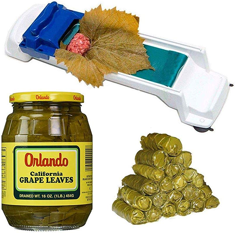 Orlando California Grapes Leaves 16 Ounce PLUS Dolma Sarma Rolling Machine 2 5 Inches Length