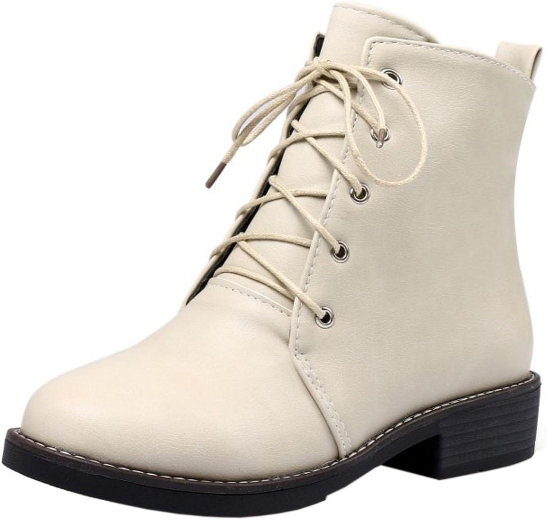 KemeKiss Women Martin Boots Lace Up