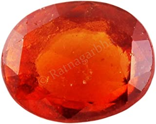 Ratnagarbha 7.25 ratti natural shining gomed hessonite garnet gemstone, astrological use, certified gomed gemstone, healing gemstone, wholesale price.
