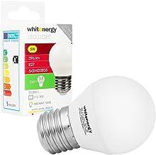 WHITENERGY® 5 Watt LED Light Golf Ball 396 Lumens E27 Edison Screw, 35W Equivalent, Beautiful Warm White Colour, 160 ? Bea...