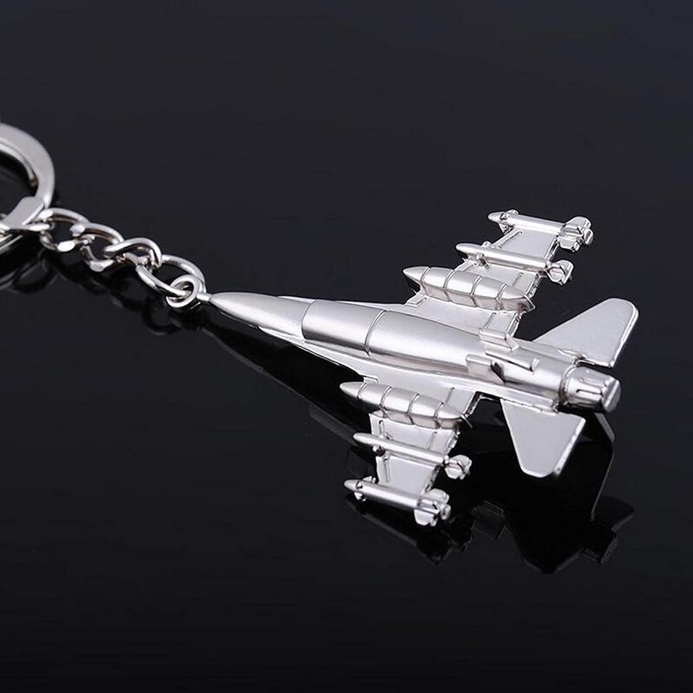 スティック銀行心配SONONIA キーフォブをキーリングラインストーンクリスタルシルバー飛行機チャームペンダントキーホルダー