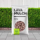 Lavasteine rot-braun – Lavasplitt – 8/16 mm – als Gartendekoration - Pflanzgranulat zur Anreicherung des Bodens - 5 kg - 5000 kg - inkl