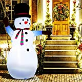 ANPHSIN 8 Ft Christmas Inflatable Snowman- Blow Up Christmas Snowman Inflatable Decoration with Build-in Flashing Lights for Xmas Holiday Indoor Outdoor Yard Lawn Garden Party Shopping Center Decor