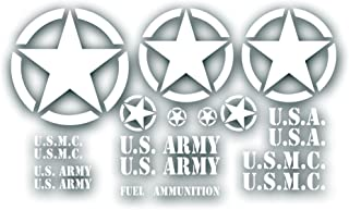 Best military jeep decals Reviews