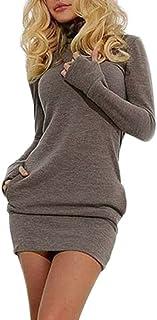 FRAUIT Abiti Mini Donna Invernali Sexy Sera Hot in Maglia Moda Vestiti Ragazza Taglie Forti Lunghi Vestito Lungo Maglieria...