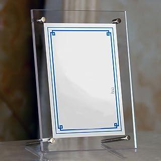 アクリルフレーム フォトフレーム アクリル 写真立て 写真フレーム 壁掛け 卓上 縦 横 フレーム おしゃれ スタンド 額縁 ポスター 写真 アンティーク (A5 サイズ)