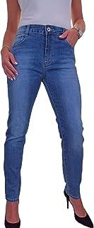 icecoolfashion Jeans Push Up da Donna con Gamba Slim 42-54