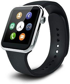 ساعة الذكية A9 ترتبط مع اجهزة السامسونج وتحسب نبضات القلب، فضي - A9-W-S