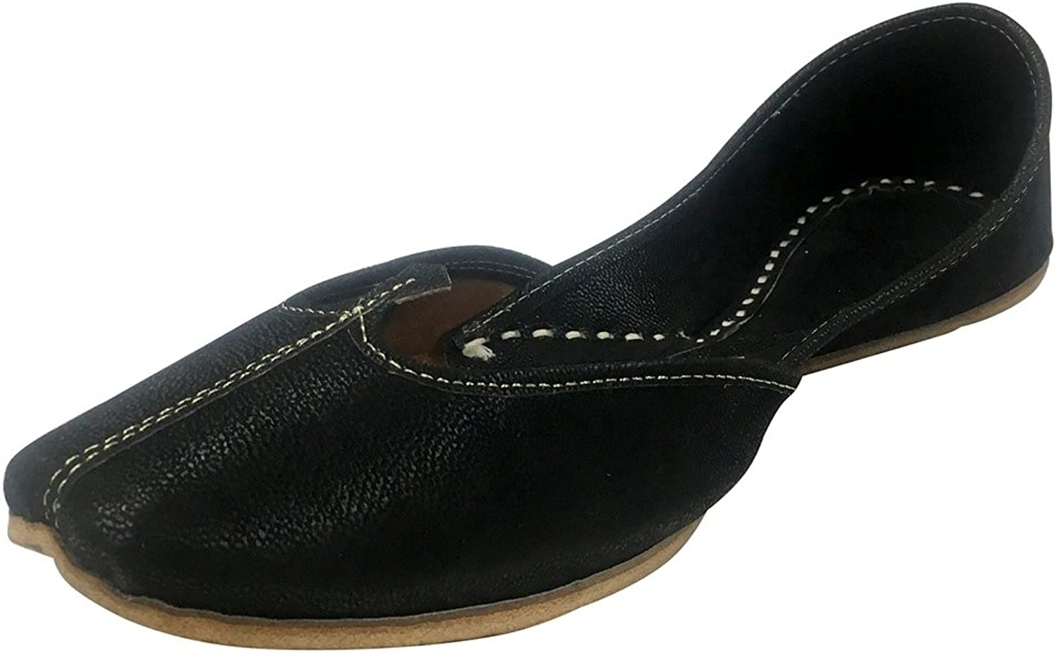 Step n Style Indian shoes Punjabi Jutti Black shoes Khussa shoes Mojari Flat Juti