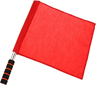 SM SunniMix Competition Line Judge Sideline Sport Match Traning Flag with Stainless Steel Rotating Pole