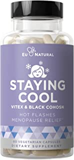 Staying Cool Hot Flashes & Menopause Natural Relief – Hormonal Weight Support, Night Sweats, Disturbed Sleep, Mood Swings ...
