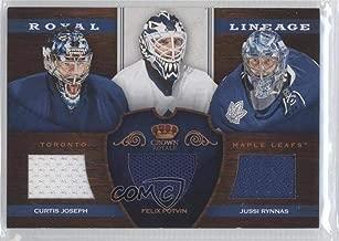 Jussi Rynnas; Curtis Joseph; Felix Potvin (Hockey Card) 2012-13 Panini Rookie Anthology - Crown Royale Royal Lineage #RL-TOR