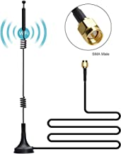 COVVY Dual-Band Magnetic Antenna 12 DB Omni-Directional 2.4G 5G/5.8G Whip Antenna - SMA Male Connector with 9.8ft Cable - Extend for CCTV Security Camera IP Camera FPV Drone