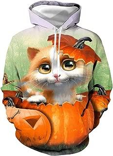 Halloween Top Mens Casual Streetwear 3D Print Party Sweatshirts Long Sleeve Hoodies Pullover Top Blouse