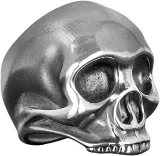 """Dead Ringers Handcrafted, Solid .925 Sterling Silver, Mens Biker Skull """"Jimi"""" Ring. Inspired by Jimi Hendrix."""