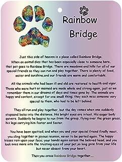 RedSum Rainbow Bridge Pet Memorial Card, Pet Memorial Gifts Dog Memorial Poem Pet Saying Bereavement Keepsake Gift - Pet Mourning Card Sympathy Card