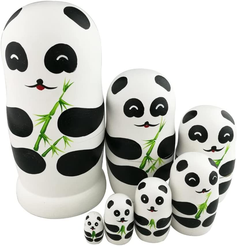 Winterworm Ranking integrated 1st place Adorable Lovely Panda New product! New type Handmade Holding Bamboo Wooden