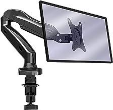 Invision® Soporte Monitor PC Brazo para Monitor Ergonómico Movilidad Total Gas Asistido para Pantallas 43-68 cm Ajusta Gira e Inclina-Abrazadera Escritorio VESA 75x75mm-100x100mm. Peso 2-6.5kg (MX150)
