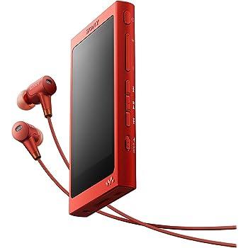ソニー ウォークマン Aシリーズ 16GB NW-A35HN : Bluetooth/microSD/ハイレゾ対応 ノイズキャンセリング機能搭載 ハイレゾ対応イヤホン付属 シナバーレッド NW-A35HN R