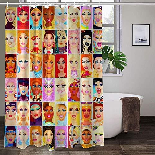 Drag Queen Royalty Duschvorhänge aus wasserdichtem Stoff für Badezimmer mit 12 Kunststoff-Haken, 152,4 x 182,9 cm