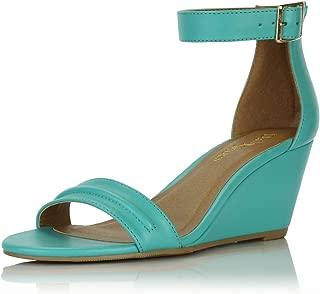 Women's Summer Fashion Design Ankle Strap Buckle Low Wedge Platform Heel Sandals Shoes