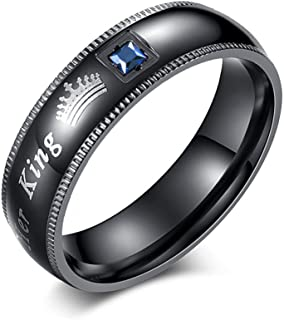Couples Rings Her King His Queen Beauty Beast Wedding Band Set Anniversary Engagement Promise Ring