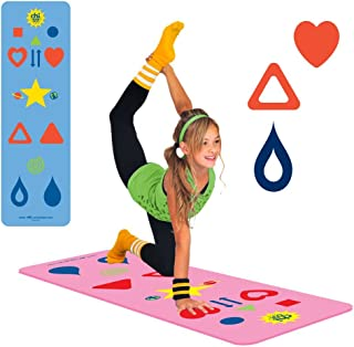 Kids, Tween/Adult Yoga Mat Sizes & Yoga Game, The Chi Mat + How-to Poster - Makes Yoga Fun - Comes in 2 different Mat Sizes for Kid and Tween/Adult - Family Exercise Game - Easy to Learn - Aligns The Body, Aids Weight Loss, Mindfulness - Eco-Friendly